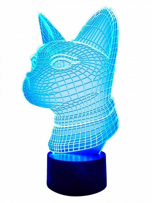 3D Lampe Mietze-Katze