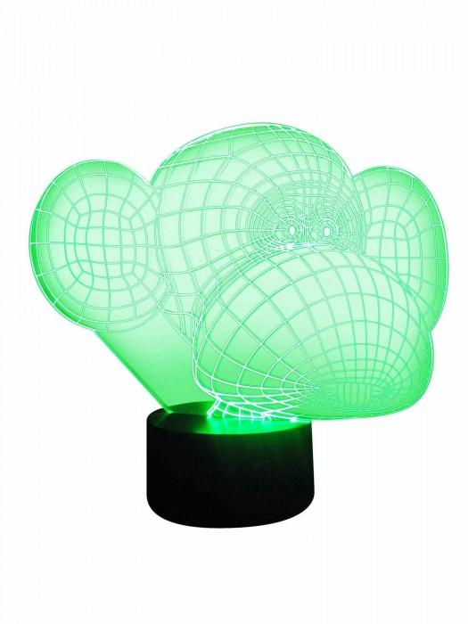 3D-Lampe als Multicolor Tischlampe