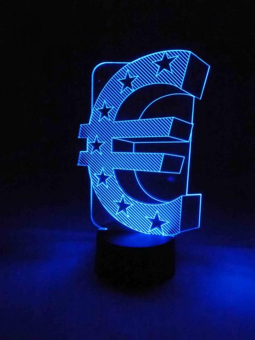 3D Lampe Euro Zeichen