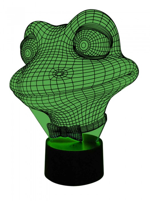 3D LED Lampe Frosch