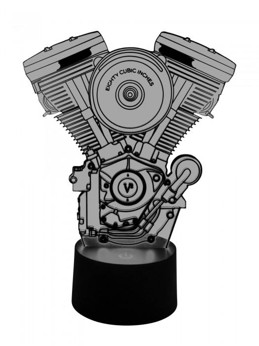 3D LED Lampe Harley Davidson