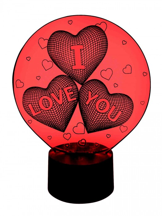 3D Lampe I love you