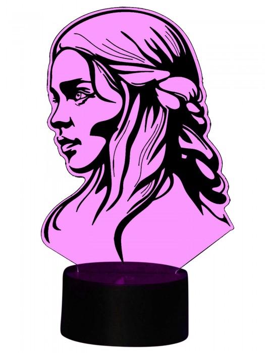 originelle 3D Lampe Prinzessin