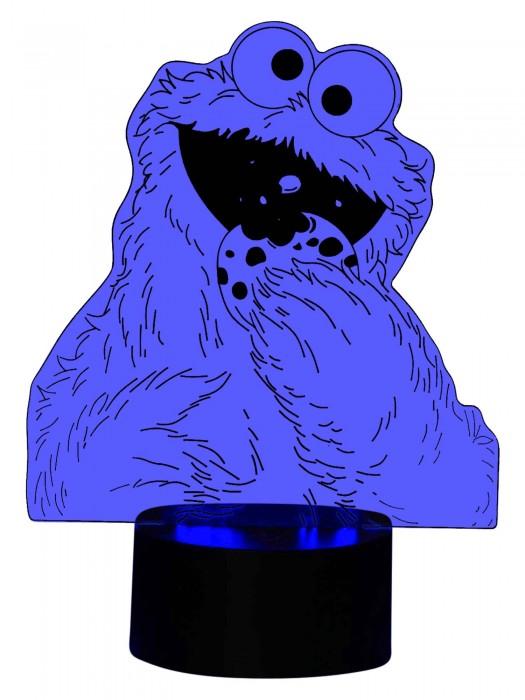 originelle 3D Lampe Krümelmonster