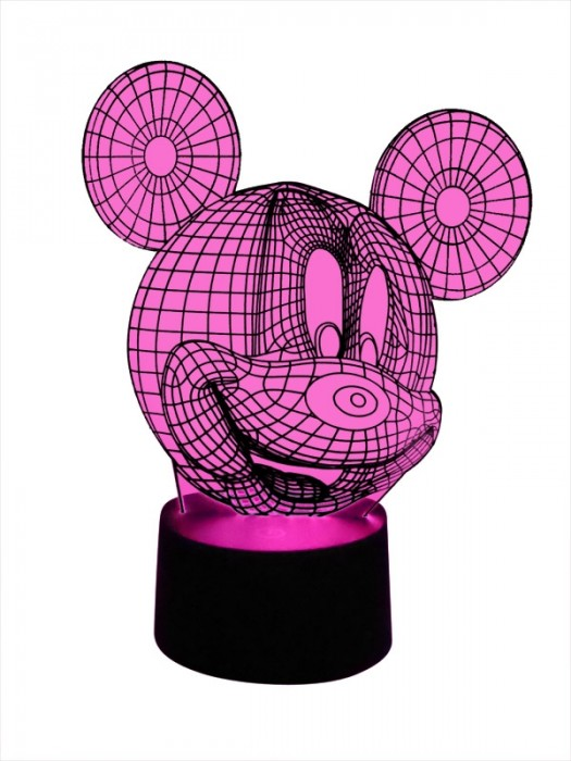 3D LED Lampe Mickey Mouse