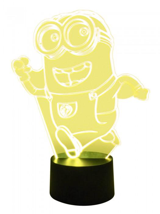 3D Tischlampe Minion