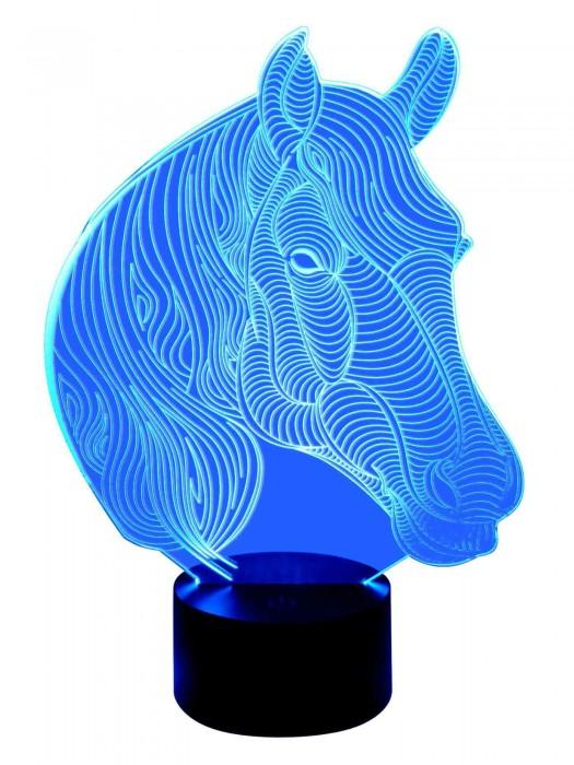 3D Lampe Motiv Pferd
