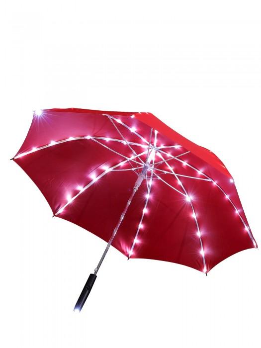 LED Regenschirm Rot Sternenhimmel