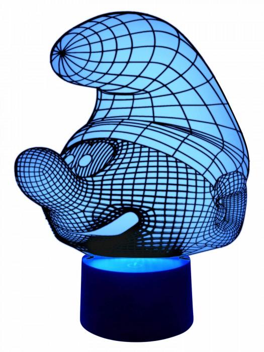 3D Lampe Schlumpf