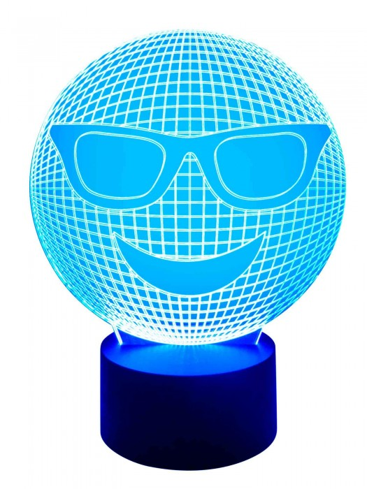 3D Lampe Smiley