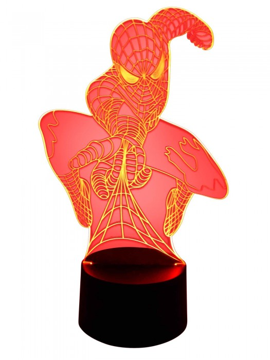 3D LED Lampe Spiderman