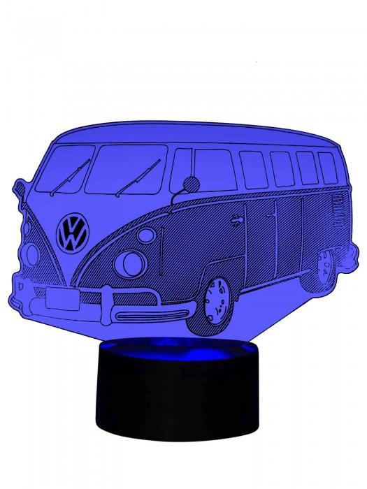 originelle 3D Lampe Bulli