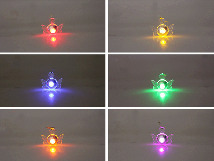 LED-Ohriringe Schmetterling