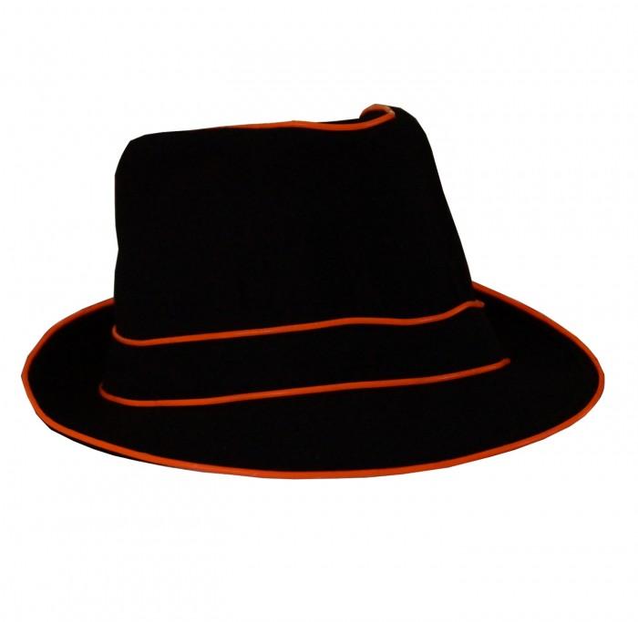 LED Fedora Party Hut als leuchtender Panamahut für Karneval Fasching Sylvester