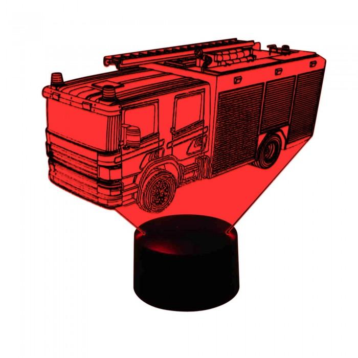 originelle 3D Lampe Feuerwehr