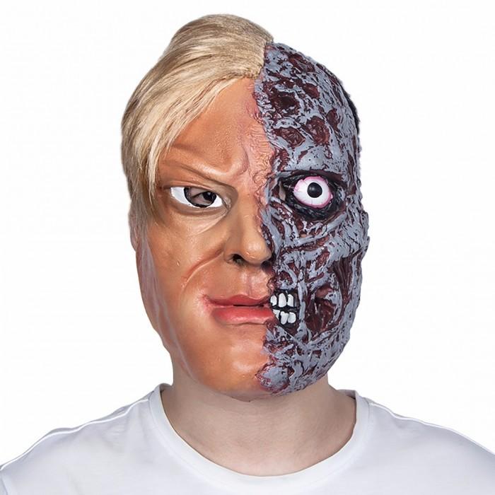 Karneval Maske Halb Mensch Halb Monster