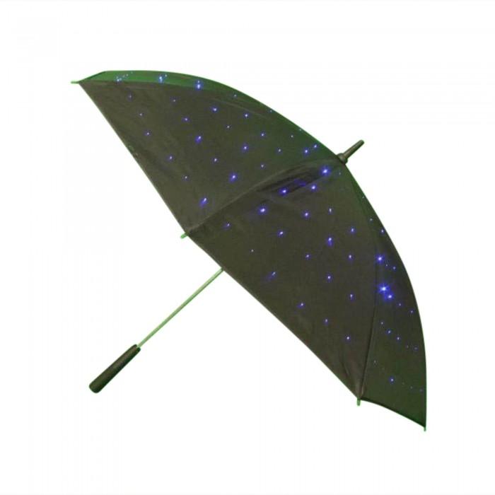 blau leuchtneder Regenschirm