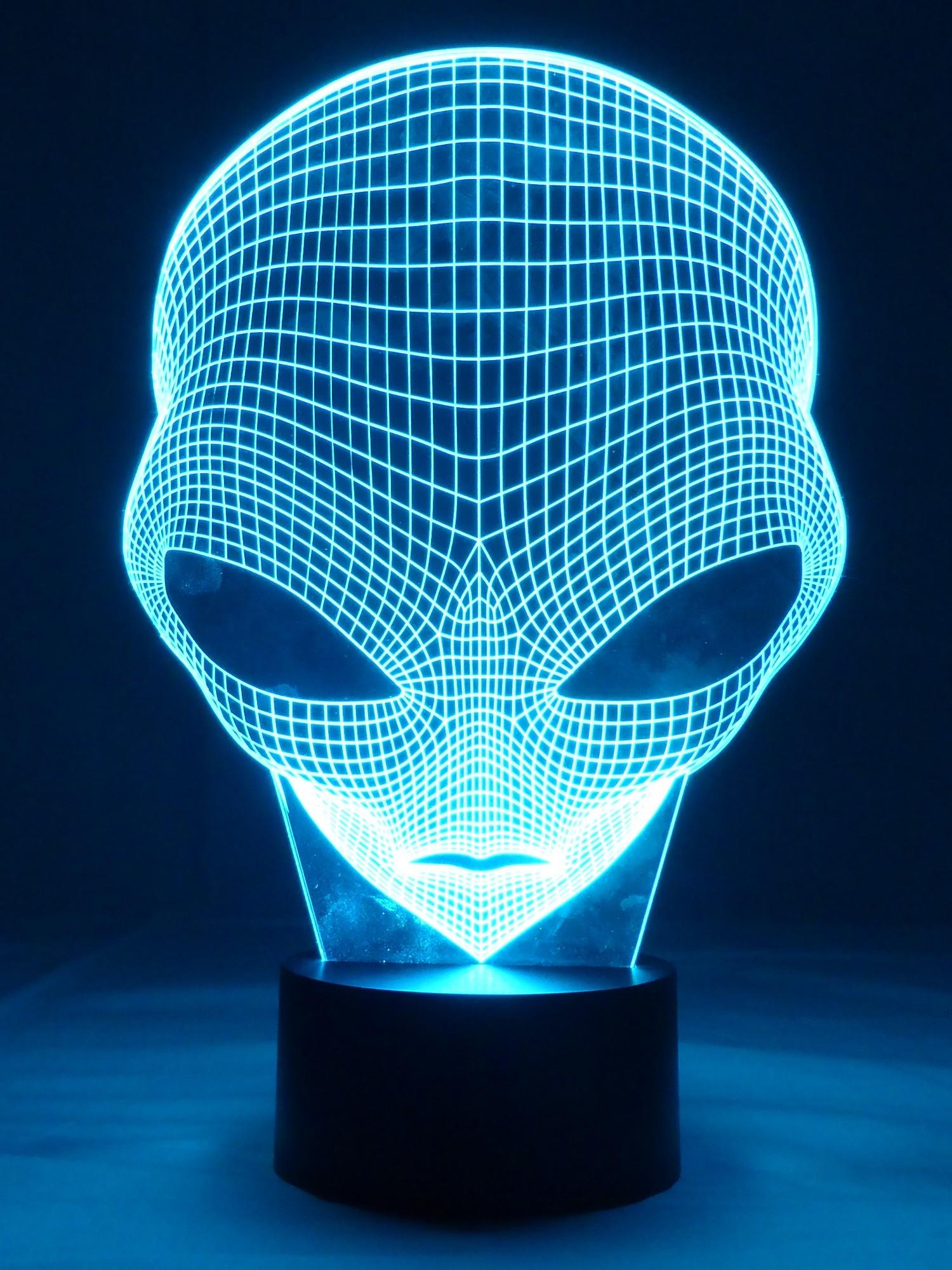 led 3d lampe star wars alien. Black Bedroom Furniture Sets. Home Design Ideas