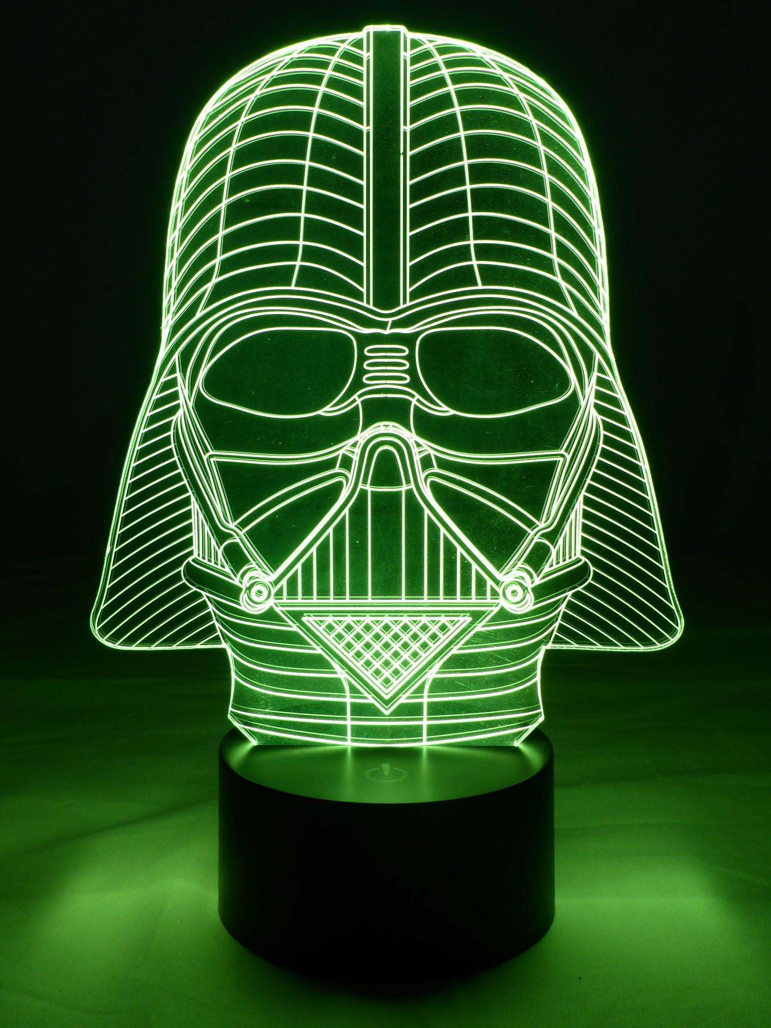 originelle 3d led lampe darth vader intergalaktische tischlampe im wohnzimmer. Black Bedroom Furniture Sets. Home Design Ideas