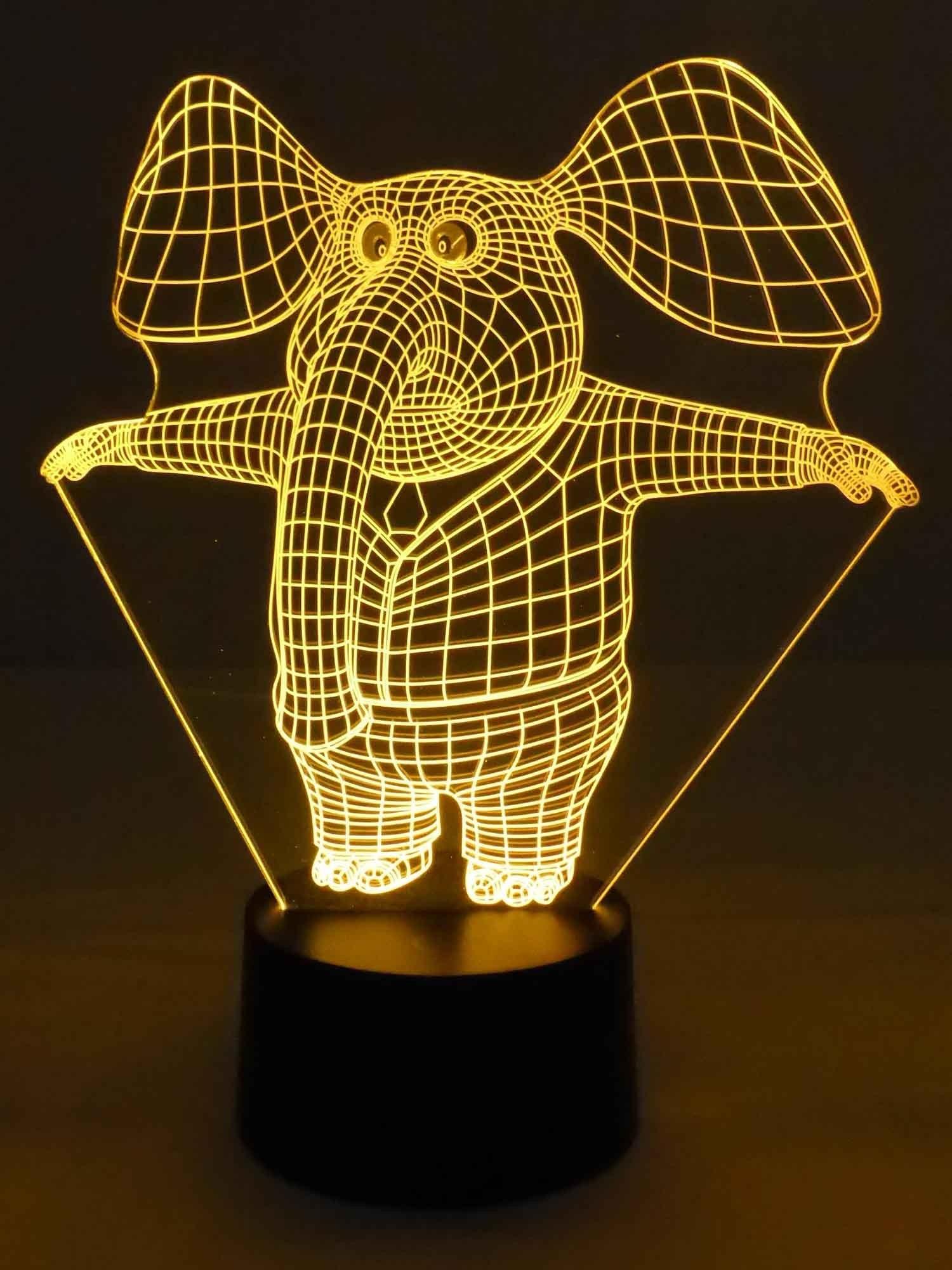 Led 3d Lampe Niedlicher Elefant Elephant