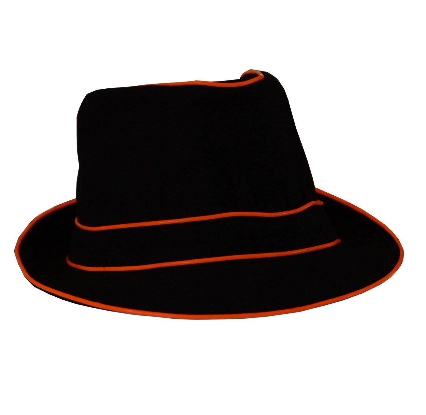 LED Fedora Party Hut als leuchtender Panamahut für Karneval oder ...