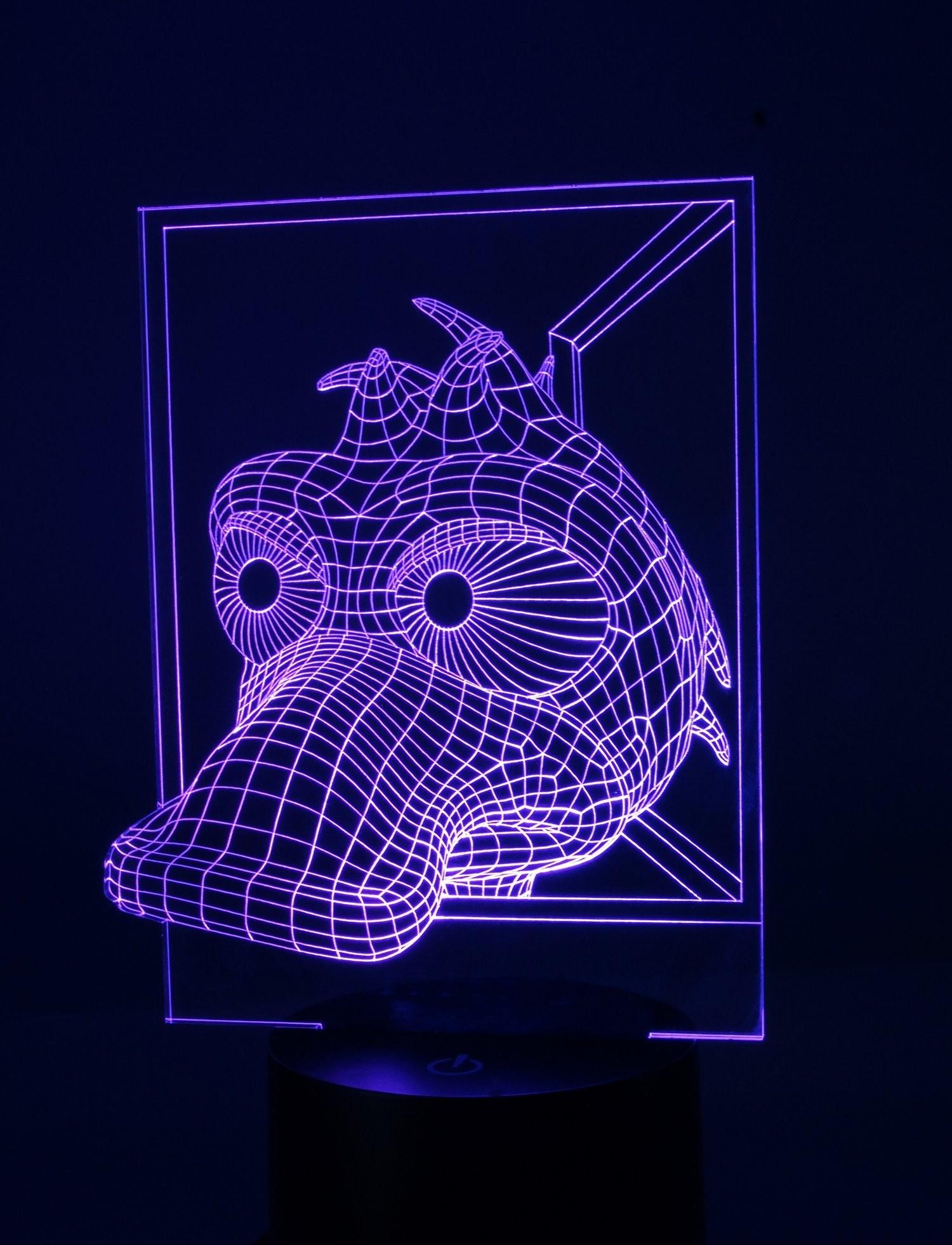 Originelle LED 3D Lampe Ente Schnabeltier