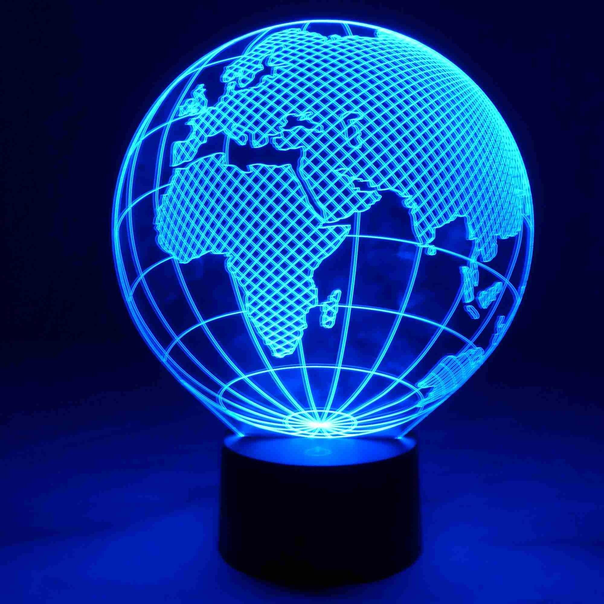 Blickfang Weltkugel 3d Sammlung Von Led Lampe