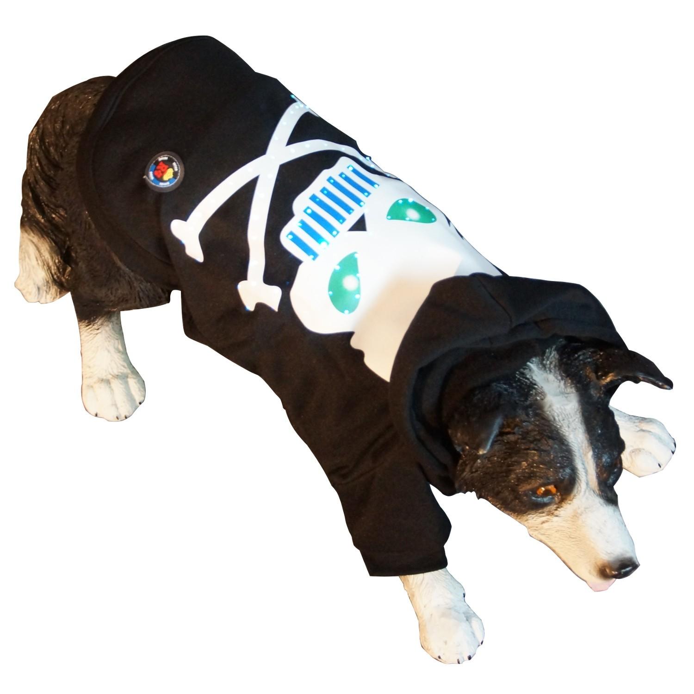 Led Hundebekleidung Hunde Pullover Schwarz Blinkende Und