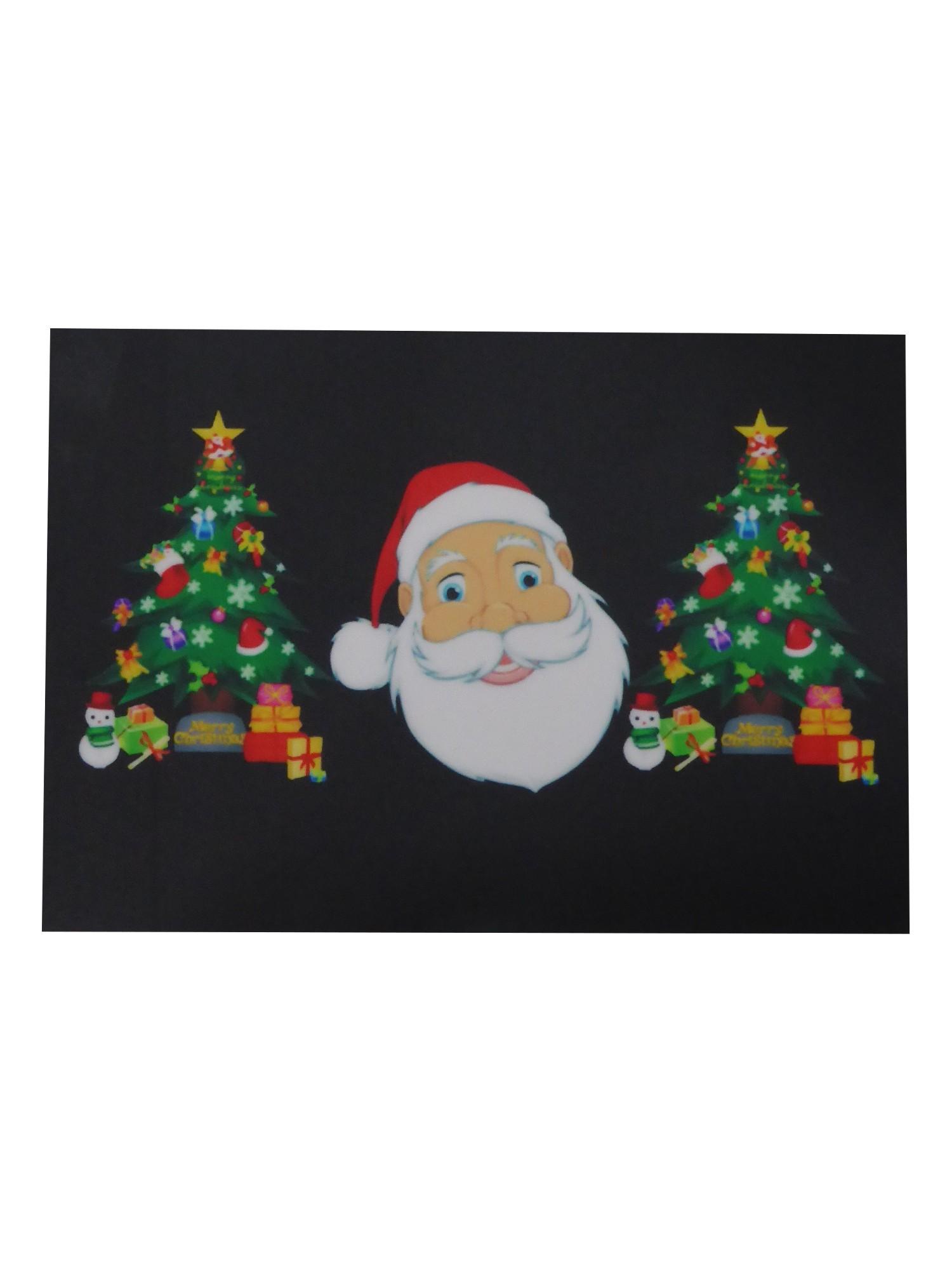 """LED T-Shirt für die Frau """"Weihnachten mit Santa Claus"""" leuchtender ..."""