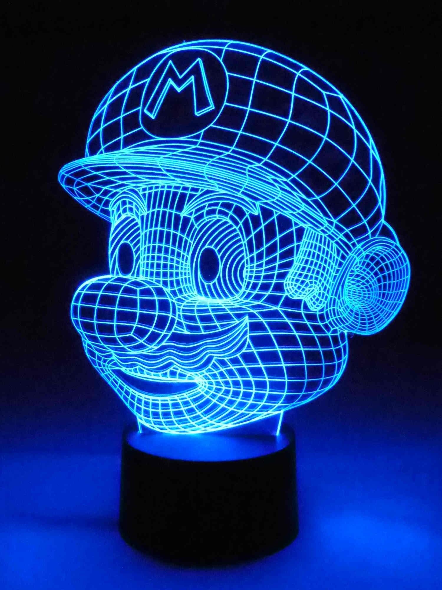 Kinderzimmerlampe Lampe Originelle 3d Rgb Mario Farbwechsellicht Kinderlampen Wohnlicht Gamer Kinderleuchte Motivlampe Led Ifb7Ygv6y