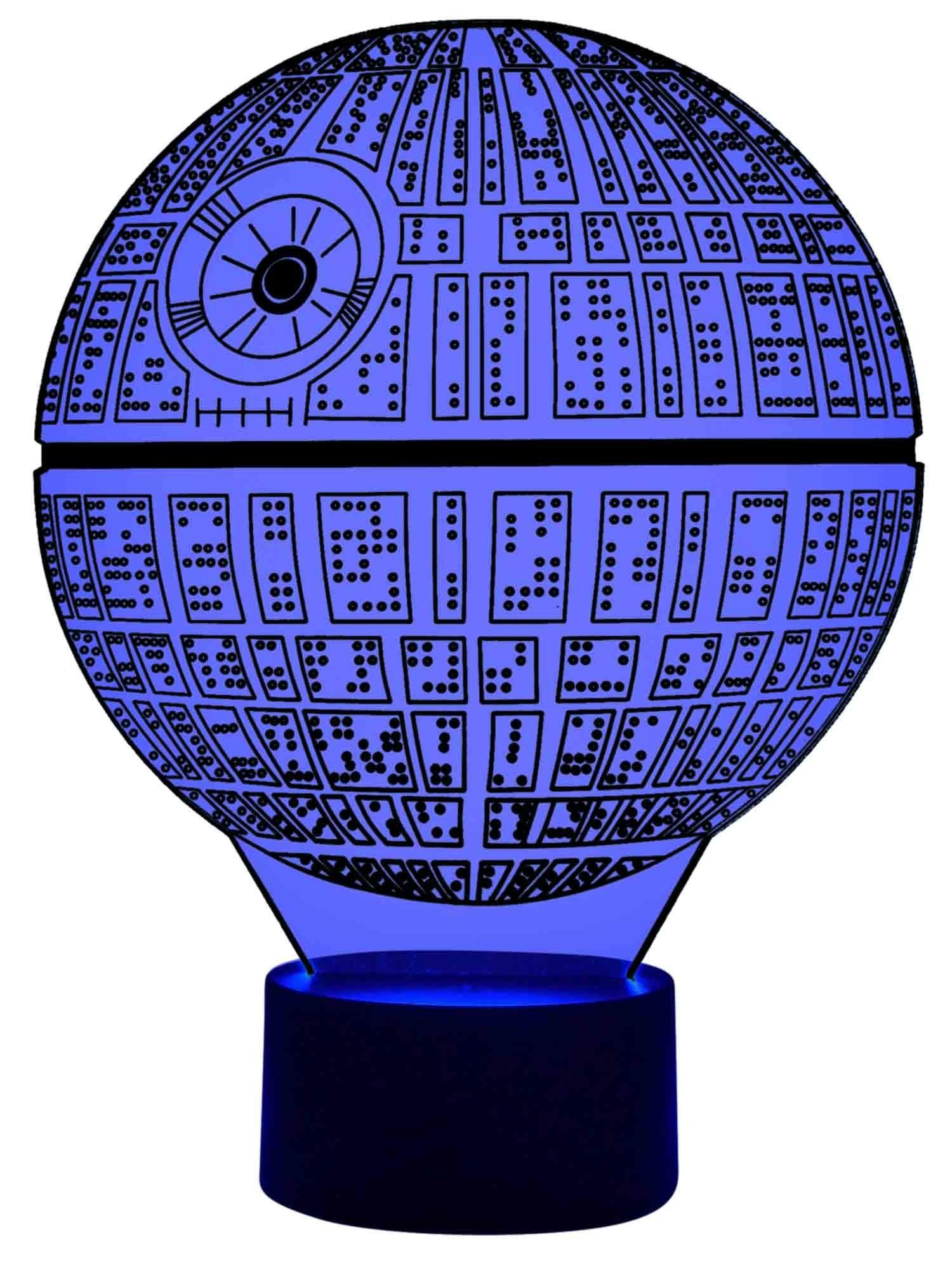 originelle 3d led-lampe todesstern tischlampe wohnlicht farbwechsel