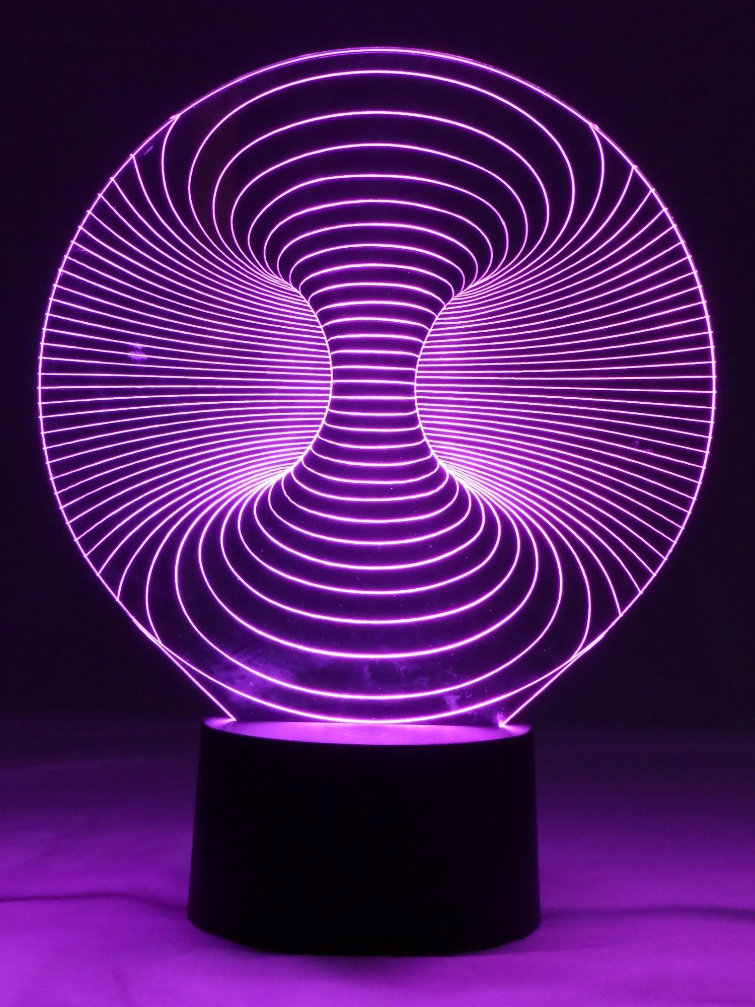 originelle 3d led lampe wirbelsturm designerlampe tischlampe wohnzimmer wohnlicht. Black Bedroom Furniture Sets. Home Design Ideas