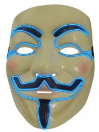 Halloween LED-Maske als Partymaske für Karneval als Guy Fawkes Vendetta Gesicht
