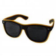 LED-Brille Leuchtbrille Partybrille Spassbrille Blinky mit dunkle getönte Gläser
