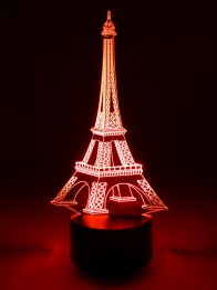 originelle 3D LED-Lampe Tischlampe Wohnlicht Nachttischlampe  Mehrfarben Tischleuchte Farbwechsel Motivlampe Eiffelturm