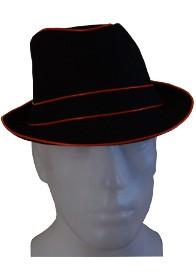 LED Fedora Party Hut als leuchtender Panamahut für Karneval oder Fasching