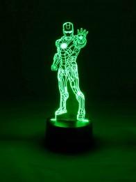 originelle 3D LED-Lampe Tischlampe Nachttischlampe Farbwechsel Wohnlicht Kinderzimmerlampe Tischleuchte Motivlampe Superheld