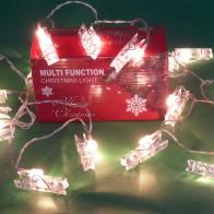 LED-Lichterkette Weihnachtsbaum Party Beleuchtung Weihnachts-Lichter Clips Klammer beleuchtet