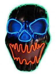 Halloween Horror  Leucht-Maske leuchtender LED Totenkopf für Karneval und Fasching