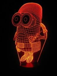 originelle 3D LED-Lampe Minion Nachttischlampe niedliche Kinderleuchte Kinderzimmerlampe Wohnlicht Tischlampe Tischleuchte