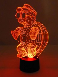 originelle 3D LED-Lampe niedliche Schildkröte Tischleuchte Nachttischlampe Kinderzimmer