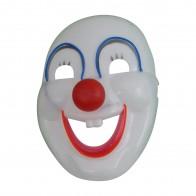 LED Leucht-Maske lustiger Clown mit roter Nase Karneval Fasching Fastnacht Verkleidungsparty