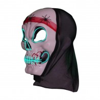 leuchtende Halloween LED-Maske Totenkopf Spinne Leuchtmaske Partymaske Karneval