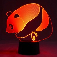 originelle 3D LED-Lampe Panda LED Farbwechsellicht Multicolor Effekt Wohnlicht