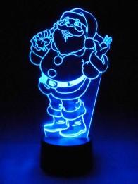 Originelle 3D LED-Lampe Weihnachten mit Santa Claus