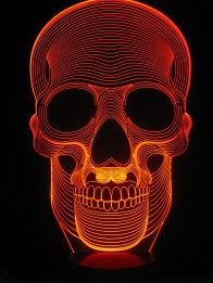 Originelle 3D LED-Lampe Totenkopf New Style