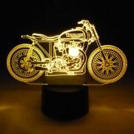 originelle 3D LED-Lampe Motorrad Biker Designer-Leuchte Farbwechsel Tischleuchte Tischlampe Show-Effekt Motorradfahrer Clubhaus
