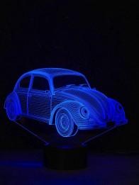 originelle 3D LED-Lampe VW Käfer Wohnlicht Tischlampe Tischleuchte Nachttischlampe Motivlampe