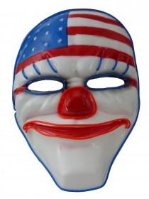 Party Leuchtmaske American Ghost,  leuchtende und blinkende Partymaske