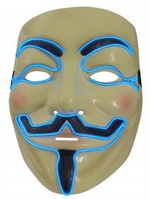 Party Leuchtmaske der besonderen Art, eine leuchtende und blinkende Vendetta LED Maske